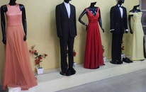 Some of the clothes made in-store